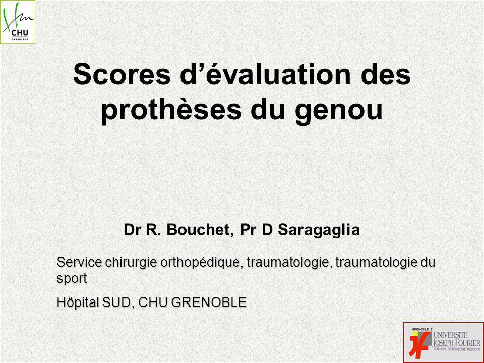 Scores d'évaluation des prothèses du genou