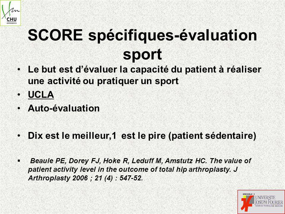 SCORE spécifiques-évaluation sport