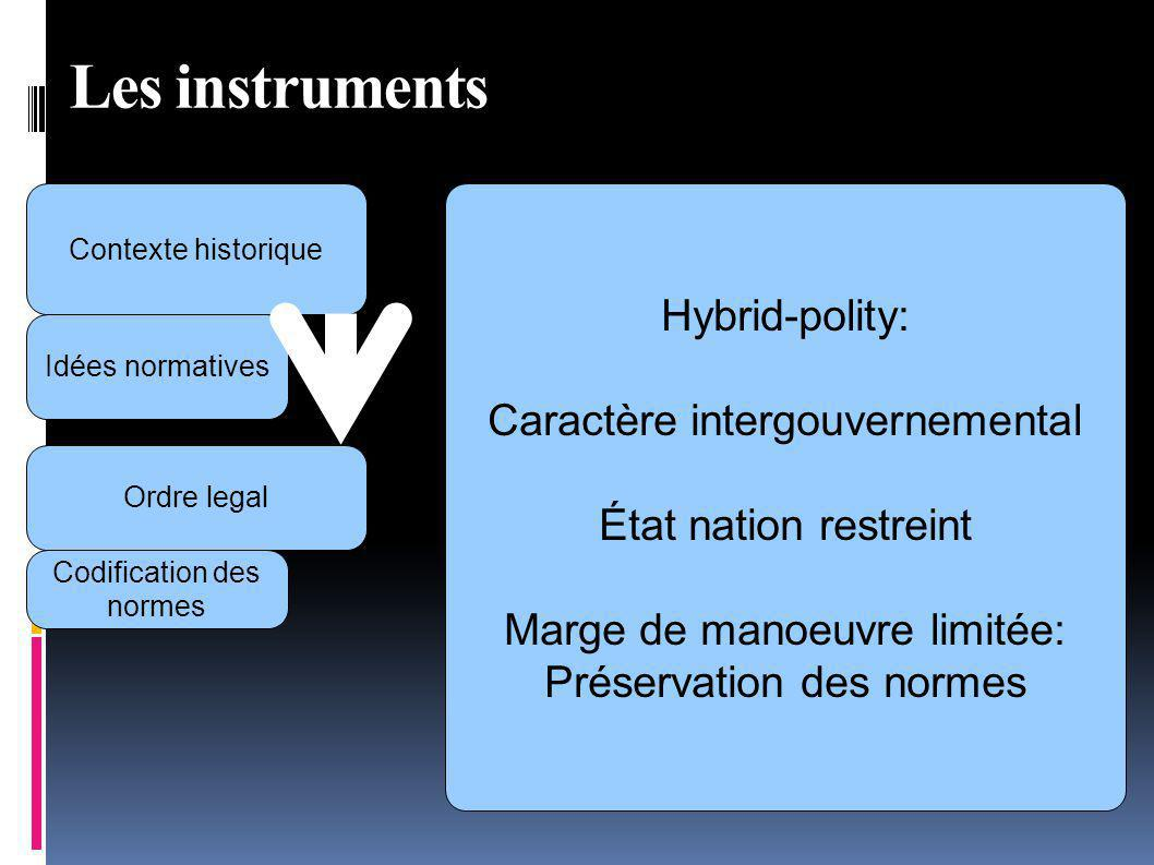 Les instruments Hybrid-polity: Caractère intergouvernemental