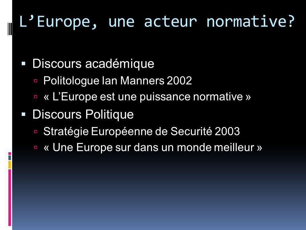 L'Europe, une acteur normative
