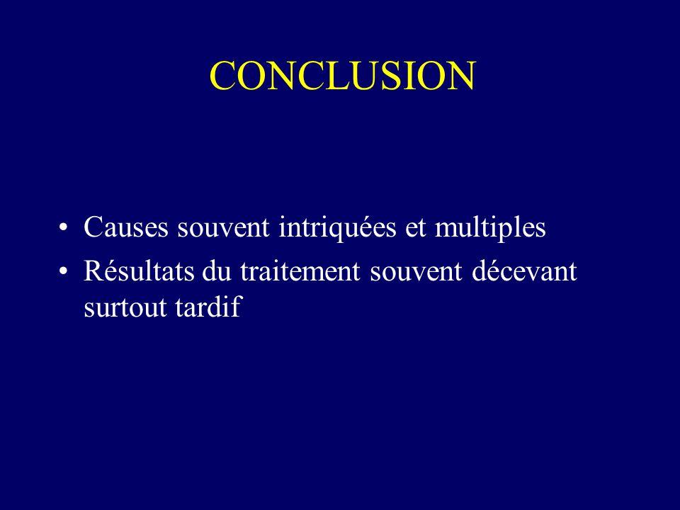 CONCLUSION Causes souvent intriquées et multiples