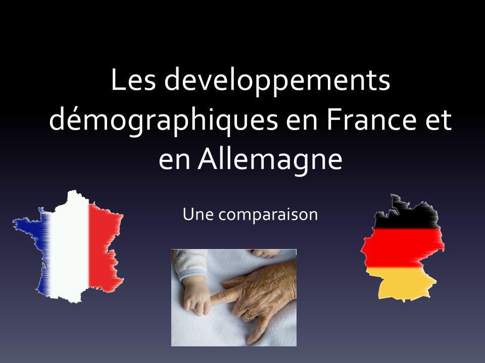 Les developpements démographiques en France et en Allemagne