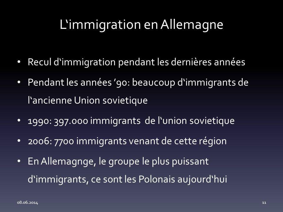 L'immigration en Allemagne