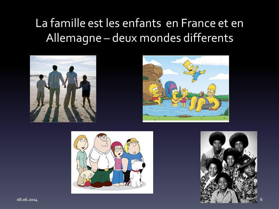 La famille est les enfants en France et en Allemagne – deux mondes differents