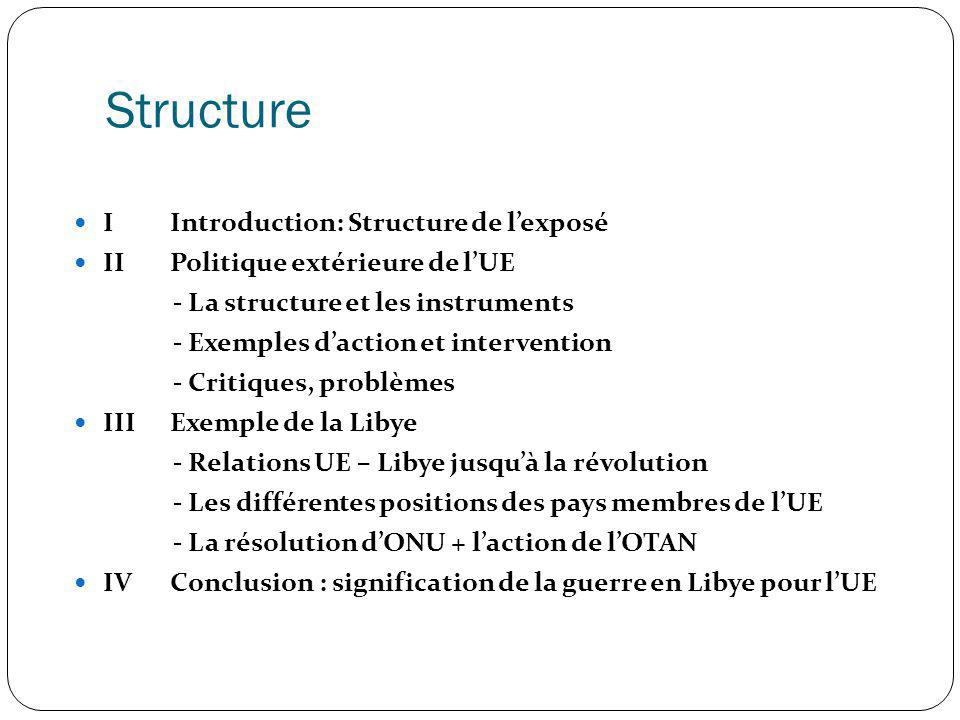 Structure I Introduction: Structure de l'exposé