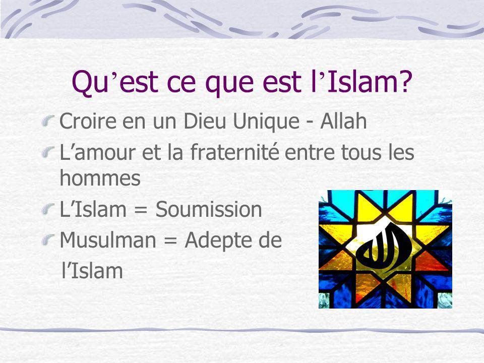 Qu'est ce que est l'Islam