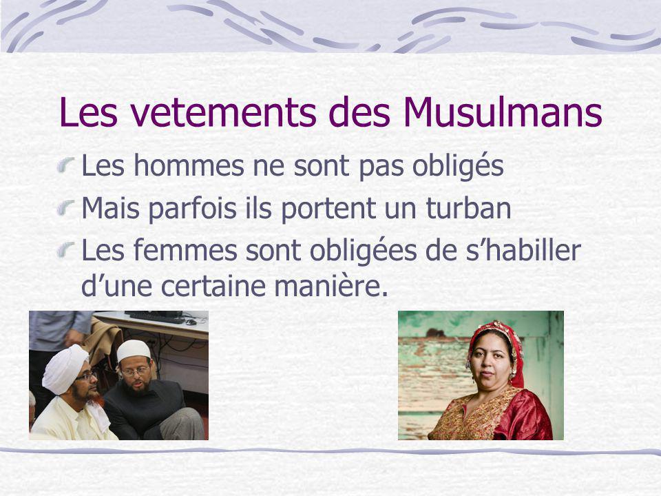 Les vetements des Musulmans