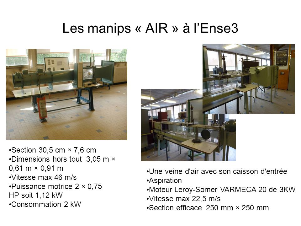 Les manips « AIR » à l'Ense3