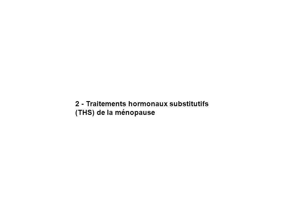 2 - Traitements hormonaux substitutifs (THS) de la ménopause