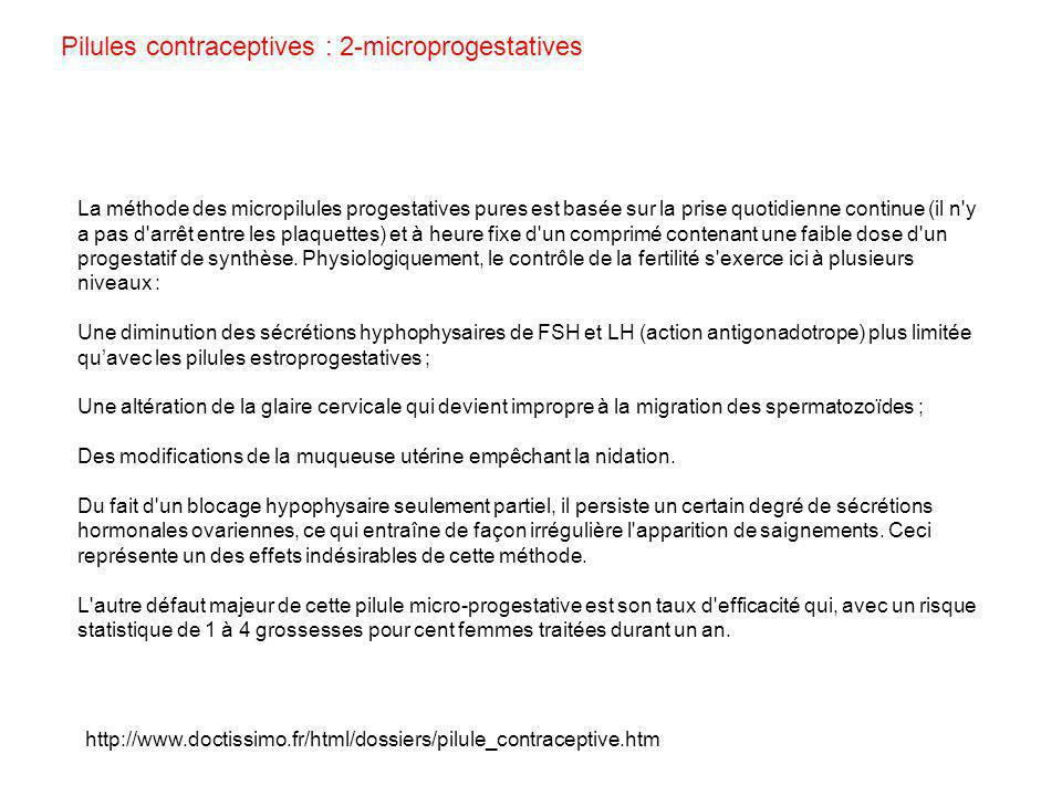 Pilules contraceptives : 2-microprogestatives