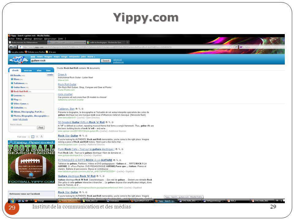Yippy.com 29 Institut de la communication et des médias 29 29