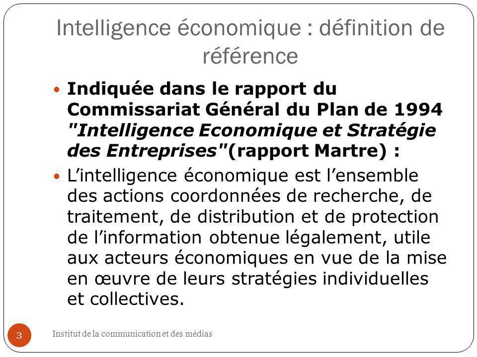 Intelligence économique : définition de référence