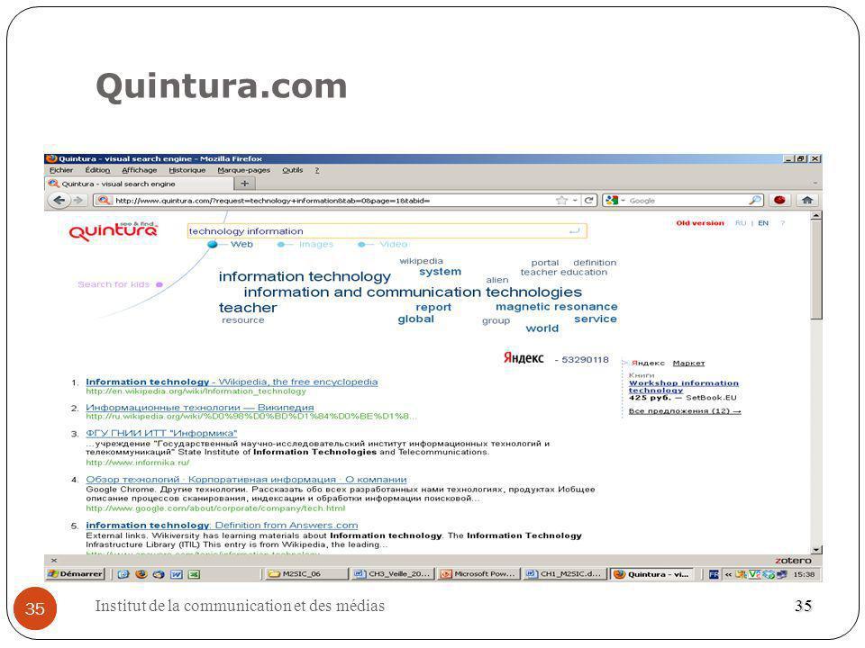 Quintura.com 35 Institut de la communication et des médias 35 35