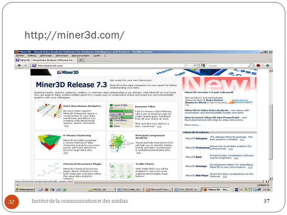 http://miner3d.com/ 37 Institut de la communication et des médias 37
