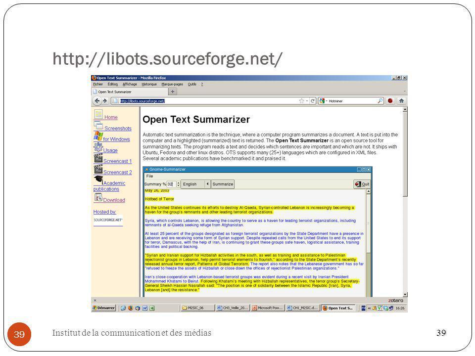 http://libots.sourceforge.net/ 39