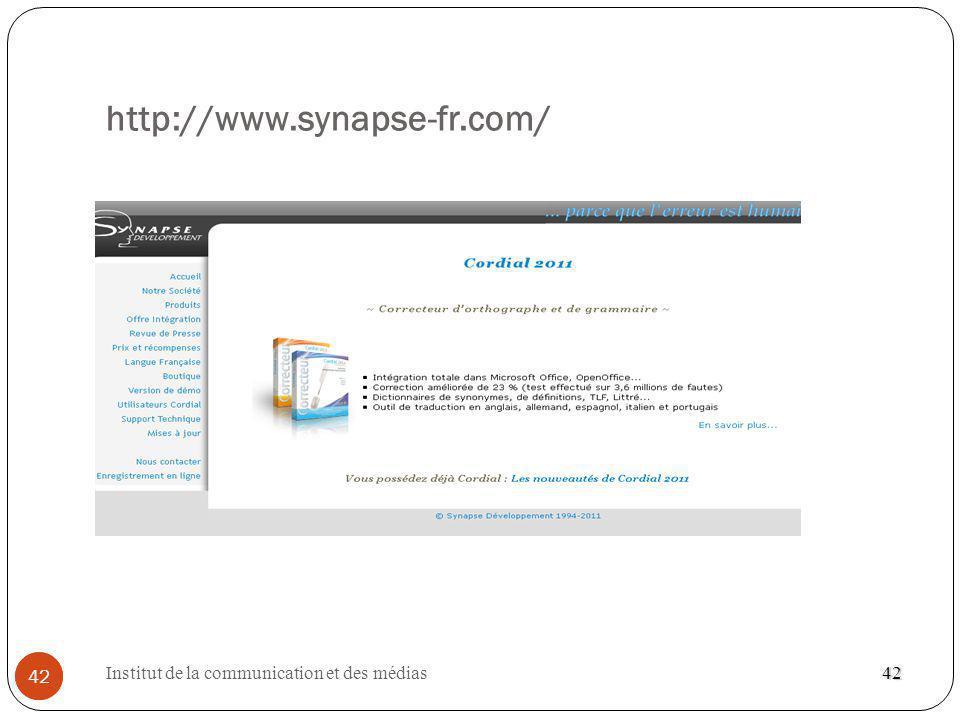 http://www.synapse-fr.com/ 42