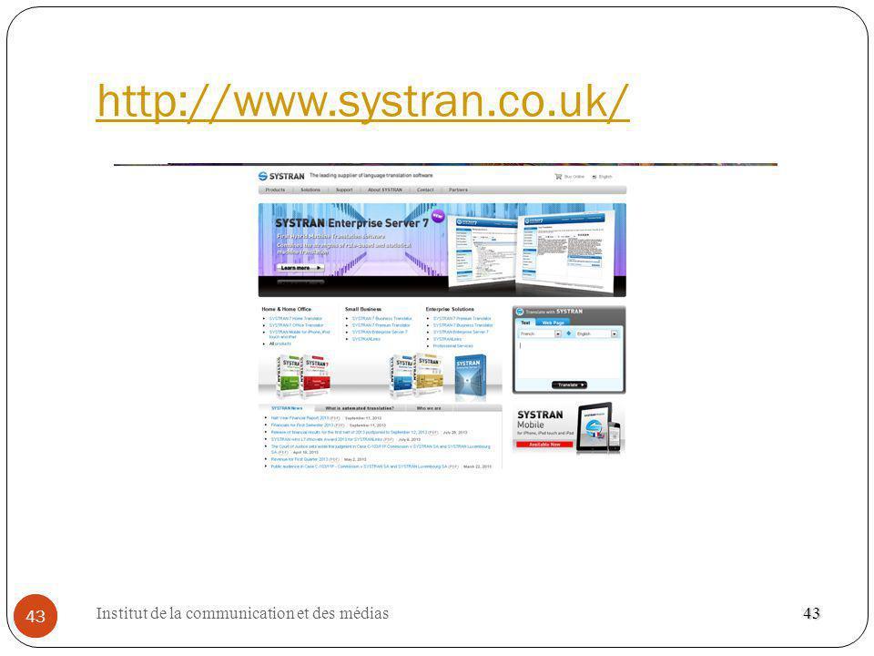 http://www.systran.co.uk/ 43