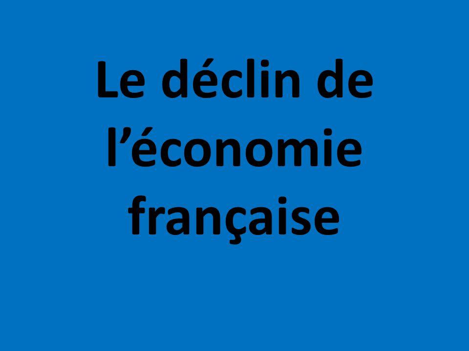 Le déclin de l'économie française