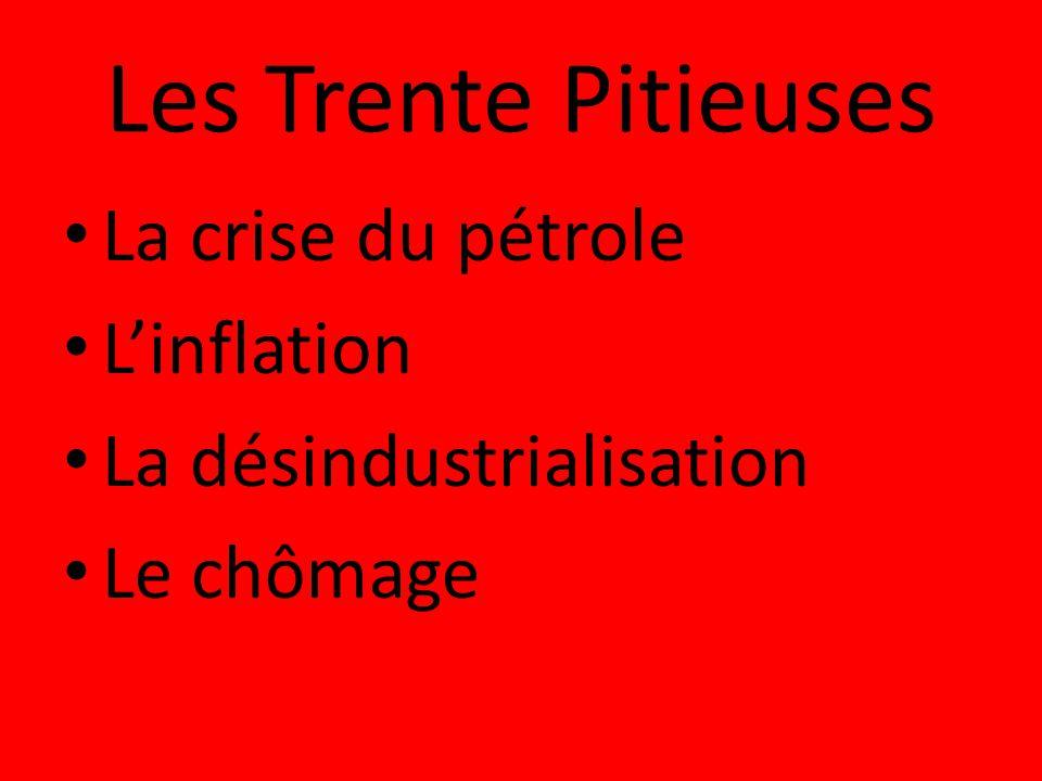 Les Trente Pitieuses La crise du pétrole L'inflation