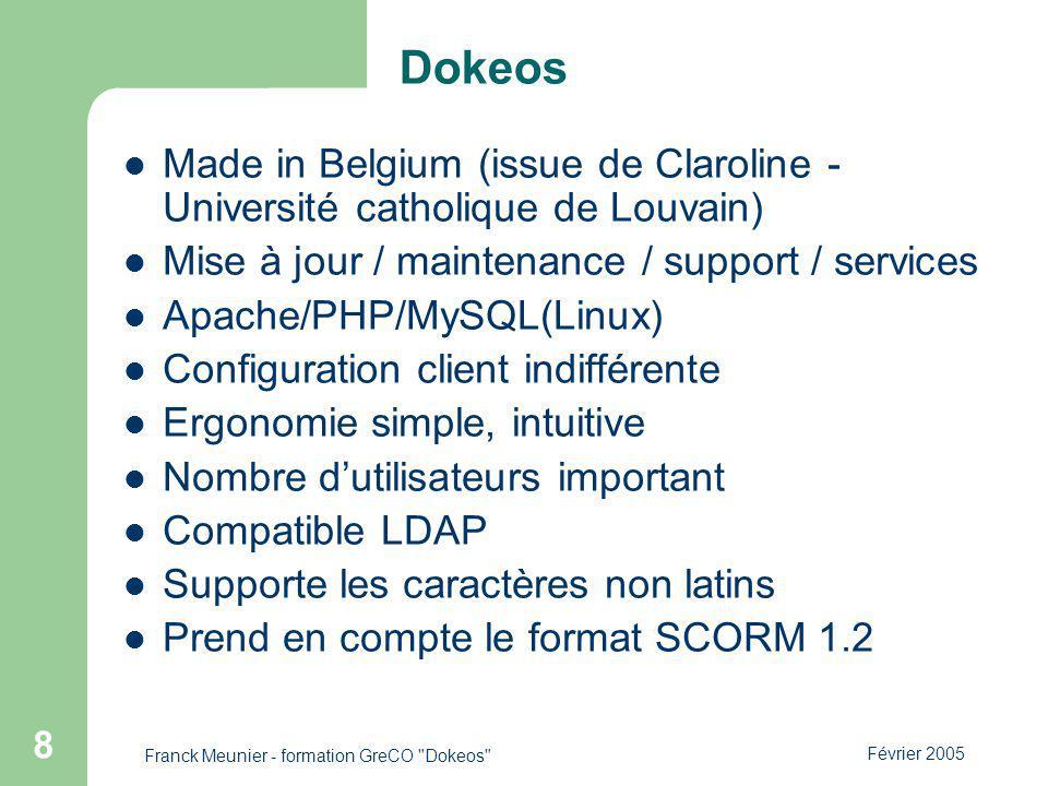 Franck Meunier - formation GreCO Dokeos