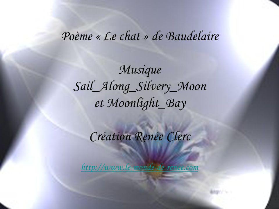 Poème « Le chat » de Baudelaire Musique Sail_Along_Silvery_Moon et Moonlight_Bay Création Renée Clerc http://www.le-monde-de-renee.com