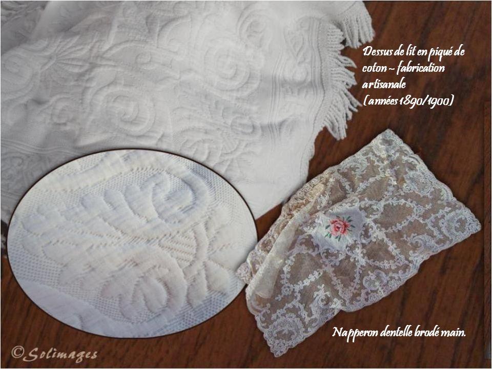 Dessus de lit en piqué de coton – fabrication artisanale