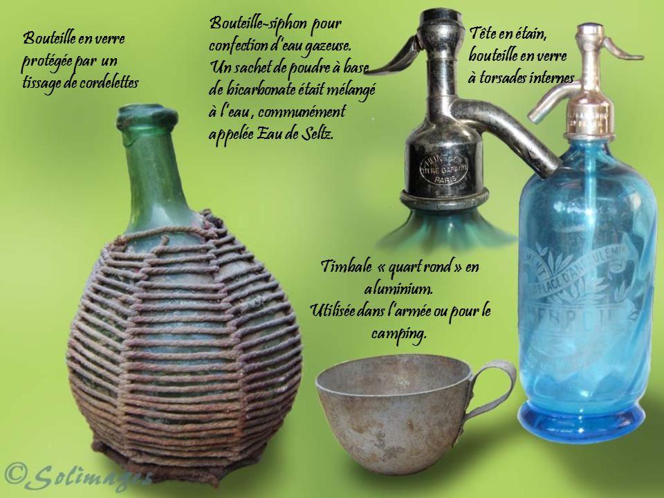 Bouteille-siphon pour confection d'eau gazeuse.