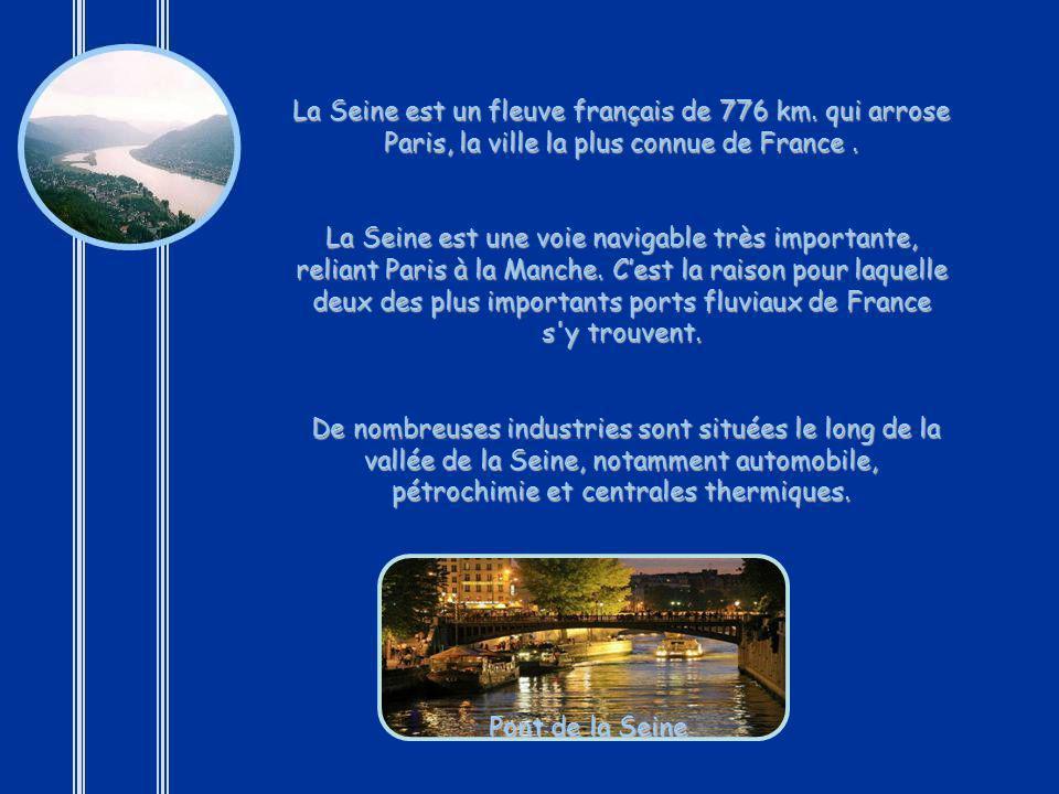 La Seine est un fleuve français de 776 km
