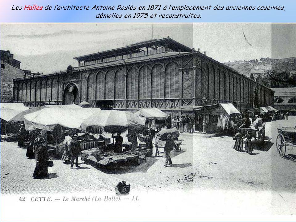 Les Halles de l'architecte Antoine Rosiès en 1871 à l'emplacement des anciennes casernes, démolies en 1975 et reconstruites.