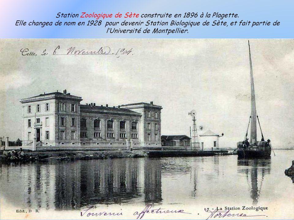 Station Zoologique de Sète construite en 1896 à la Plagette