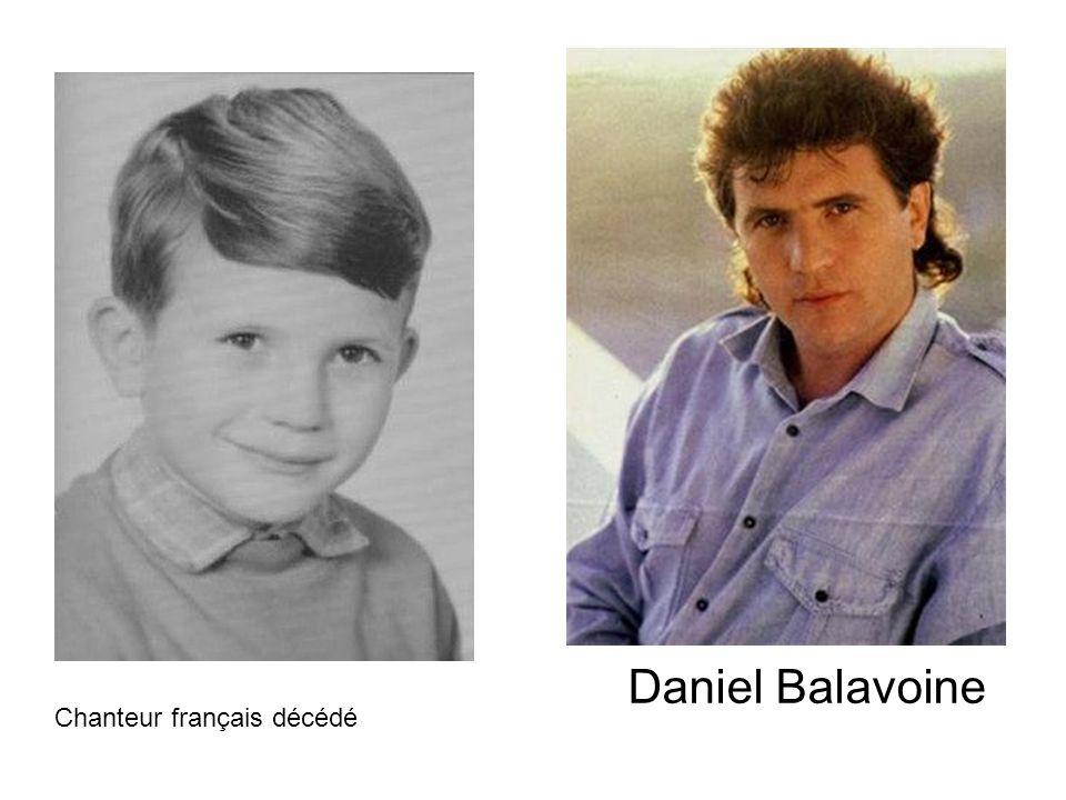 Daniel Balavoine Chanteur français décédé