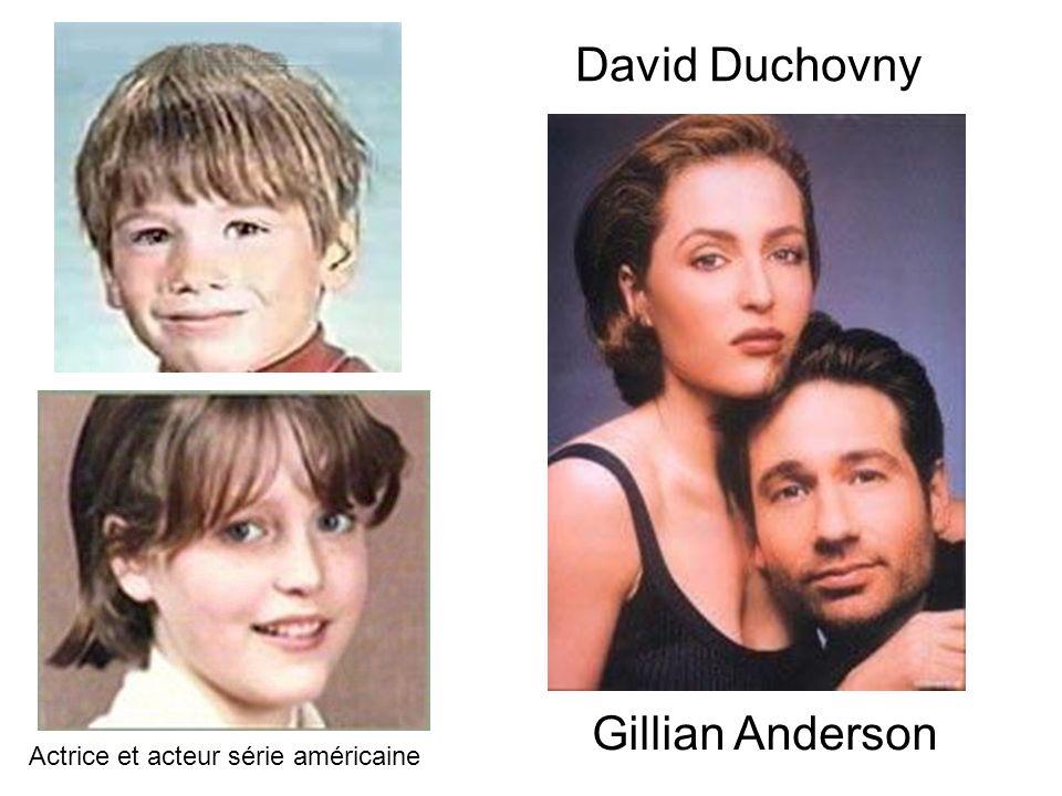 David Duchovny Gillian Anderson Actrice et acteur série américaine