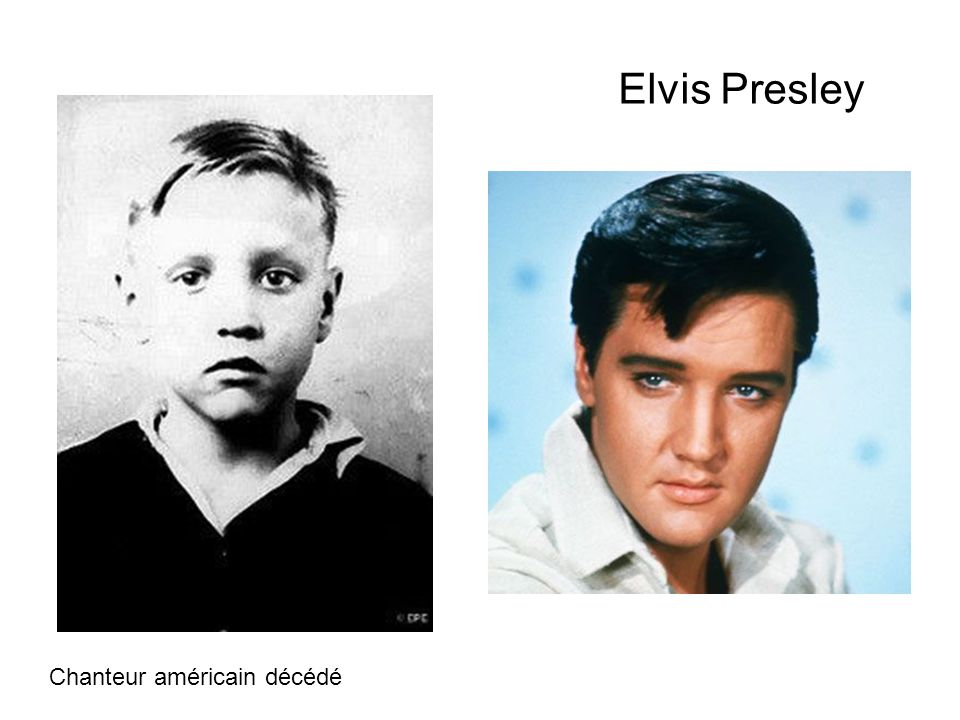 Elvis Presley Chanteur américain décédé