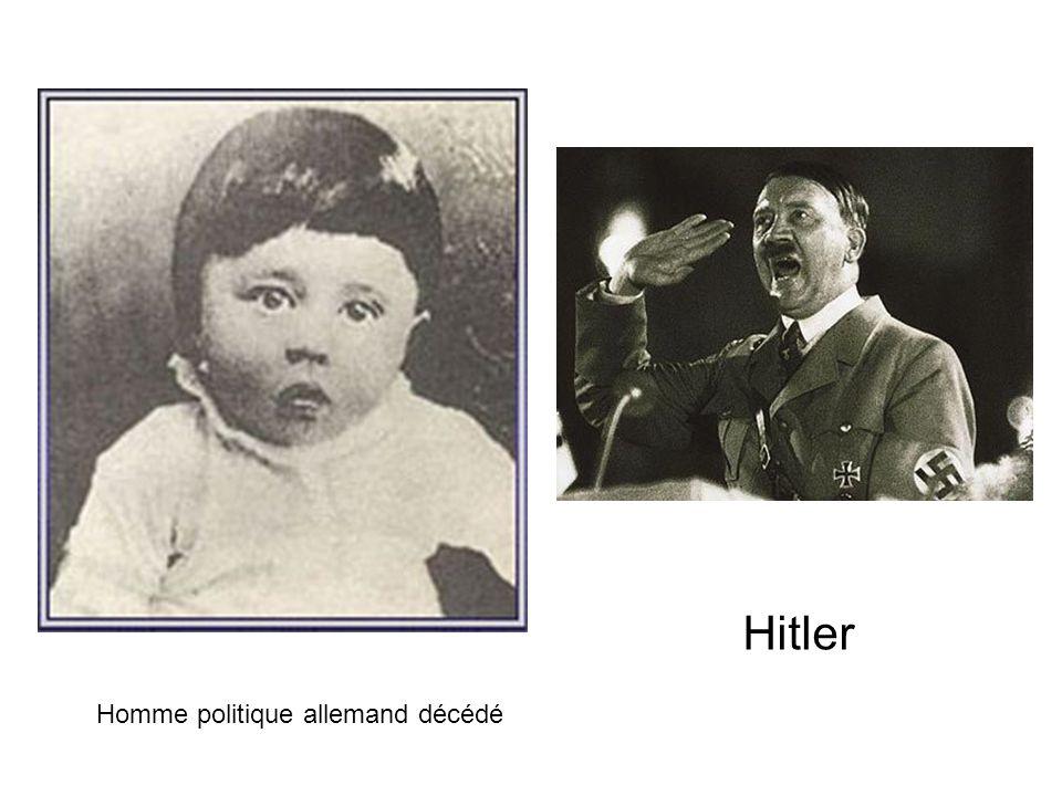 Hitler Homme politique allemand décédé