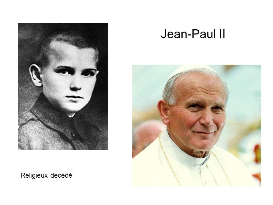 Jean-Paul II Religieux décédé