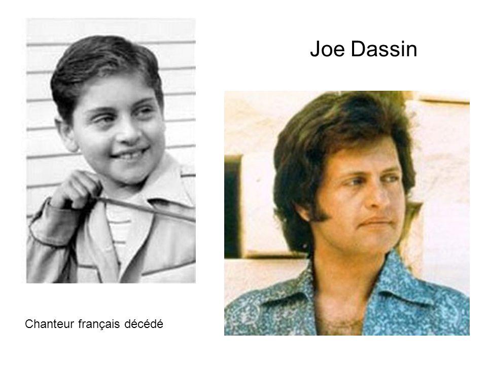 Joe Dassin Chanteur français décédé