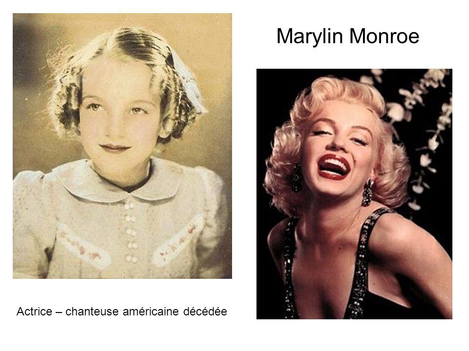 Marylin Monroe Actrice – chanteuse américaine décédée