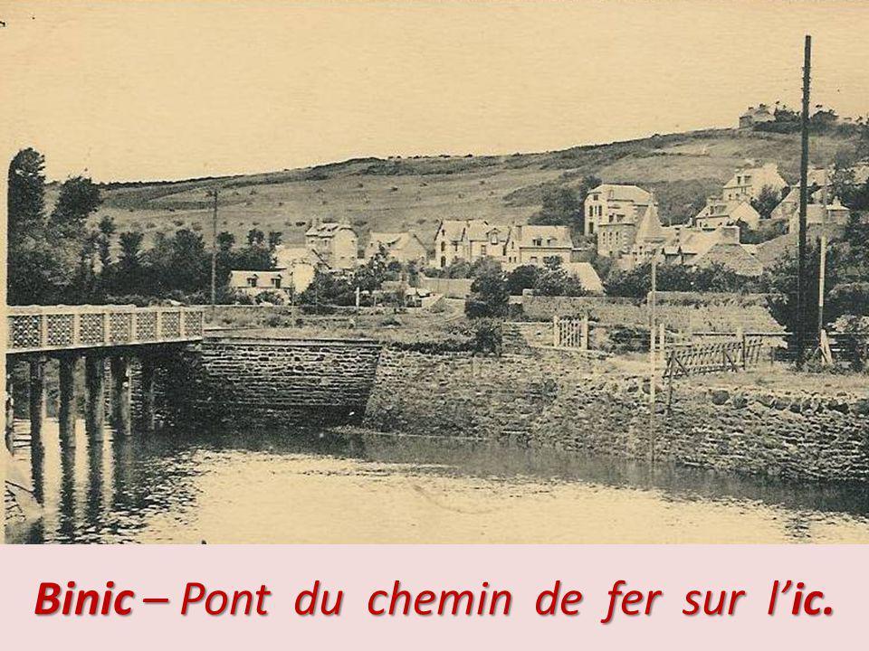 Binic – Pont du chemin de fer sur l'ic.