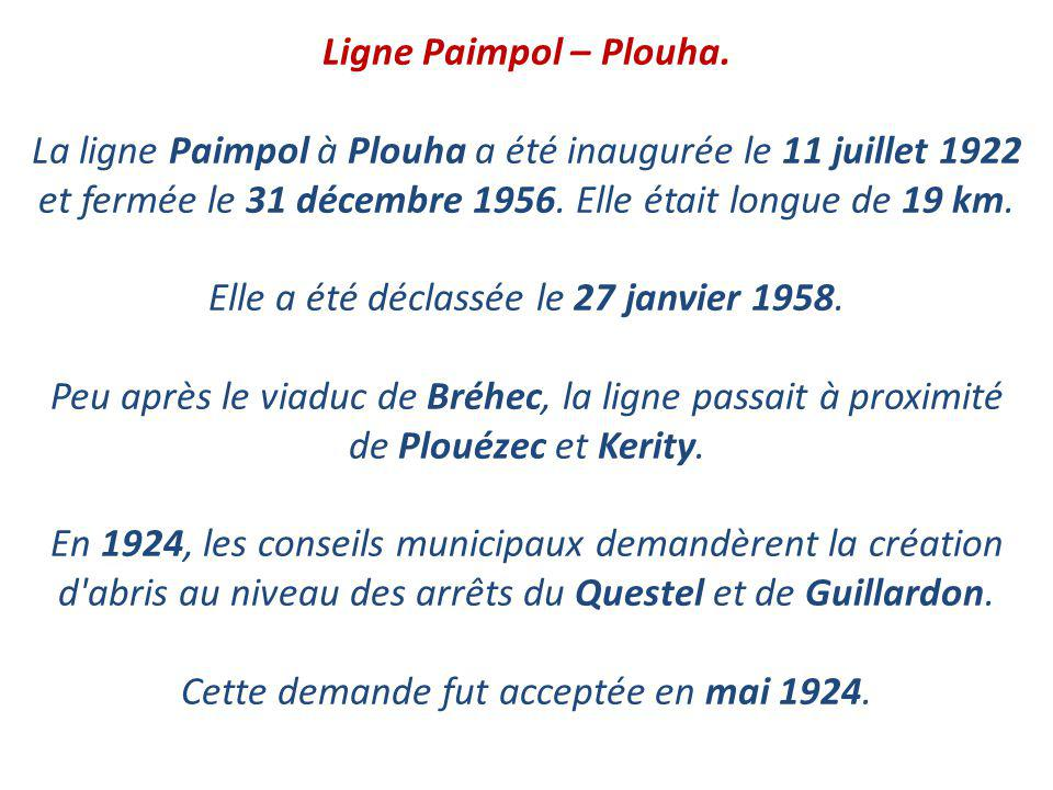 Ligne Paimpol – Plouha.