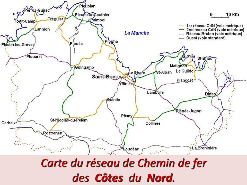 Carte du réseau de Chemin de fer