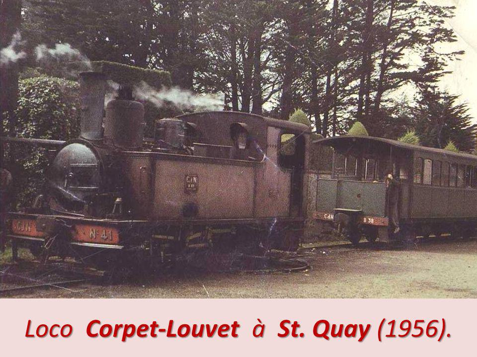 Loco Corpet-Louvet à St. Quay (1956).