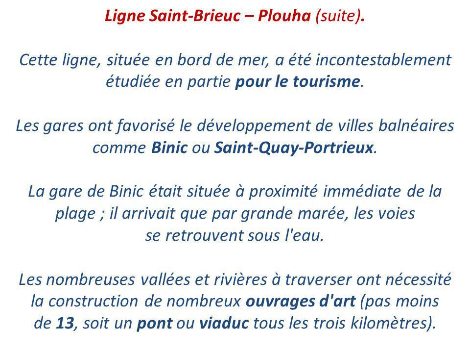 Ligne Saint-Brieuc – Plouha (suite)