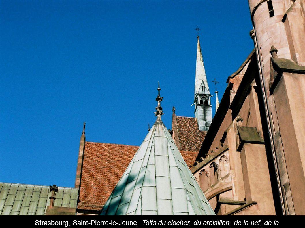 Strasbourg, Saint-Pierre-le-Jeune, Toits du clocher, du croisillon, de la nef, de la chapelle
