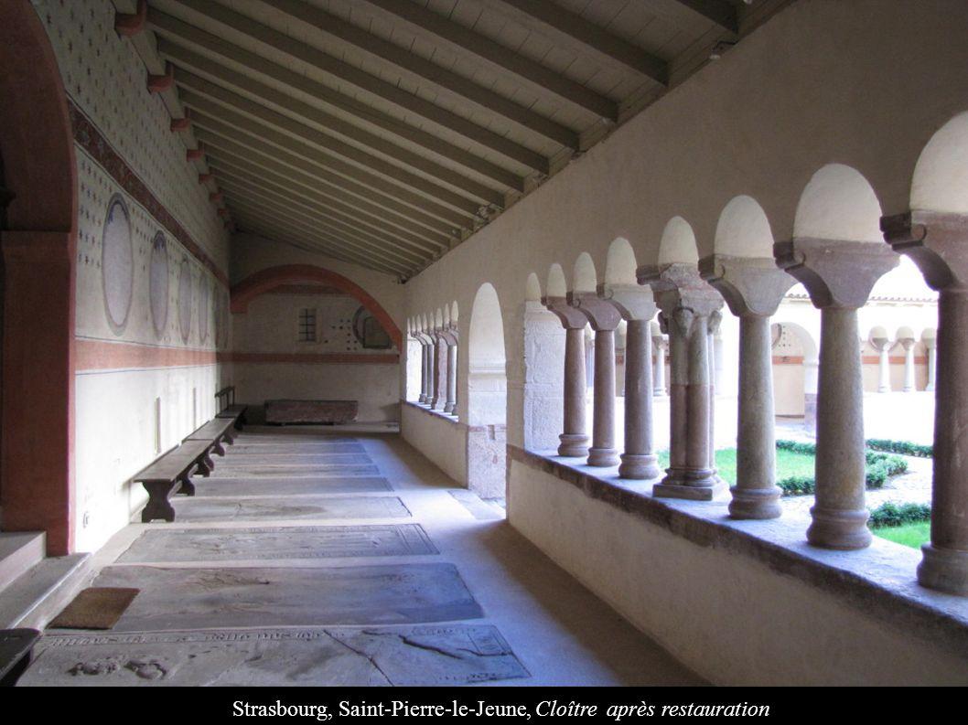 Strasbourg, Saint-Pierre-le-Jeune, Cloître après restauration
