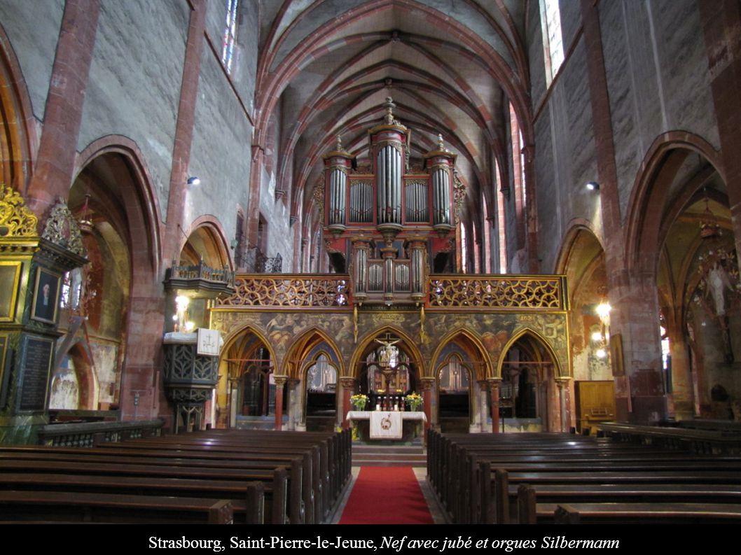 Strasbourg, Saint-Pierre-le-Jeune, Nef avec jubé et orgues Silbermann