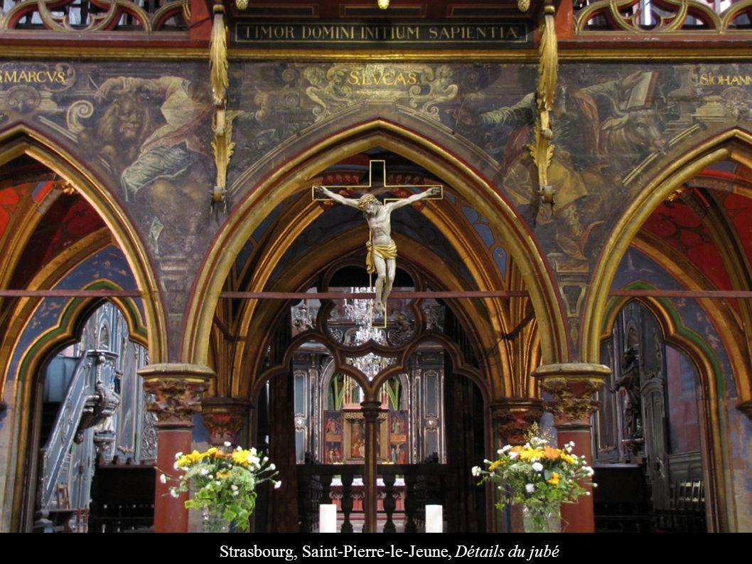 Strasbourg, Saint-Pierre-le-Jeune, Détails du jubé