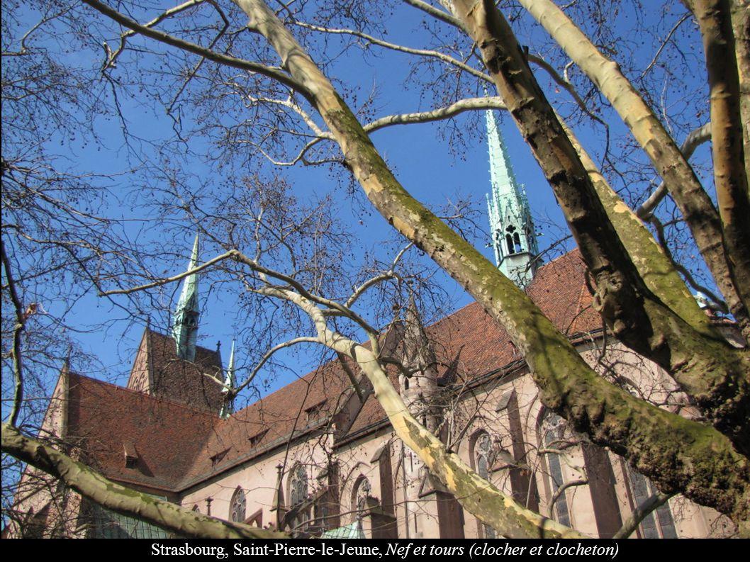 Strasbourg, Saint-Pierre-le-Jeune, Nef et tours (clocher et clocheton)