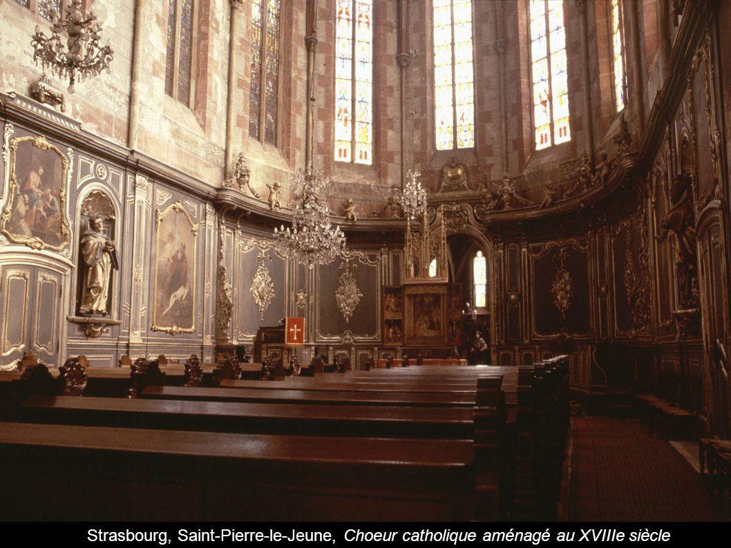Strasbourg, Saint-Pierre-le-Jeune, Choeur catholique aménagé au XVIIIe siècle