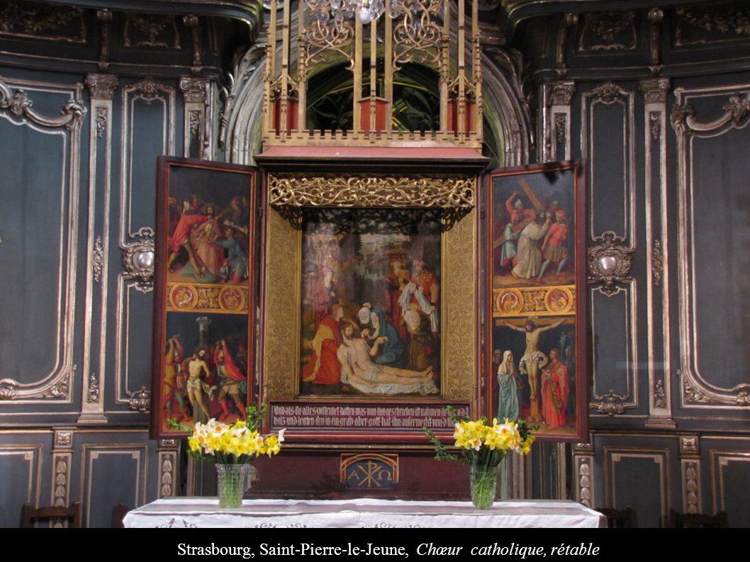 Strasbourg, Saint-Pierre-le-Jeune, Chœur catholique, rétable