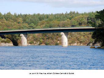 Le pont St Maurice, reliant Clohars-Carnoët à Guidel.